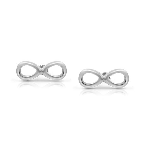 316l Surgical Stainless Steel Infinity Safety Back Baby S Stud Earrings Studs 8mm