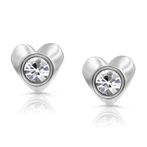 316l Surgical Steel Children S Heart Stud Earrings For Hypoallergenic Safety Back
